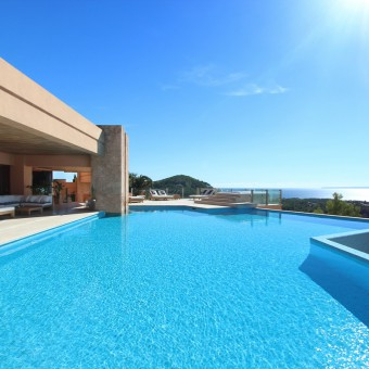 REFLECTION villa - Rental property with 3 pools and a views over Ibiza town